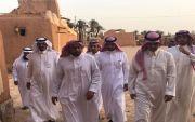 سمو الامير الفرحان في زيارة للاماكن السياحيه في محافظة عيون الجواء
