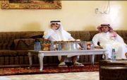 زيارة الامير سعود بن فيصل ال سعود ل عبدالعزيز الطميشاء بمنزله