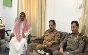 رئيس مركز النقره  الشيخ هادي بن حماد يستقبل مدير مركز الدفاع المدني الموسمي