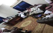 استقبل الشيخ/ محمد بن زيد بن حماد رئيس مركز الهميج الأهالي لمبايعة ولي العهد