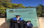 محمد بن علي بن عطيه الفريدي يحصل على درجة الماجستير في علوم الحاسب من جامعة كوينزلاند في استراليا . الف مبروك