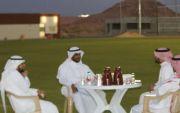 رئيس بلدية القوارة المهندس ماجد بن محمد السالم يقوم بزيارة لنادي الحصان، التقى فيها برئيس مجلس الإدارة وأعضاء المجلس