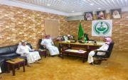 استقبال رئيس مركز اوثال سعد المحارب لرئيس. بلدية عيون الجواء