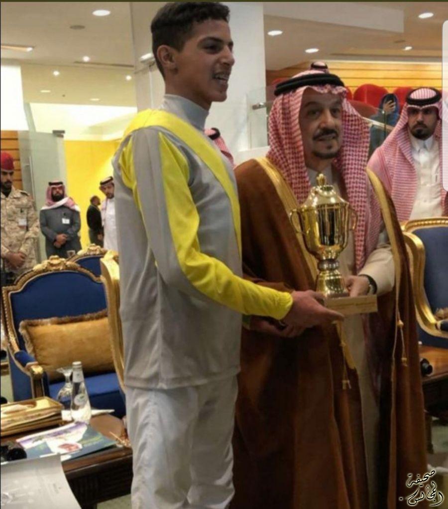 الخيال فهد منصور العملطي يحصل على المركز الثاني