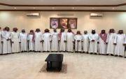 الشيخ فيحان ابو عشاير يستقبل القحطاني ومرافقيه بعسيلان